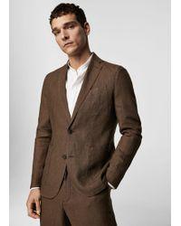 Mango - Slim-fit Linen Suit Blazer - Lyst