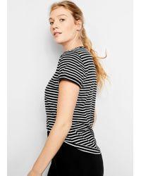 Violeta by Mango - Stripes Organic Cotton T-shirt - Lyst