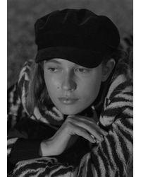 Mango - Corduroy Baker Boy Hat - Lyst