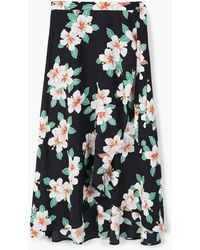 Mango - Floral Wrapped Skirt - Lyst