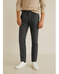 Mango - Regular-fit Pleated Chino Trousers - Lyst