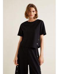 Mango - Buttons T-shirt - Lyst