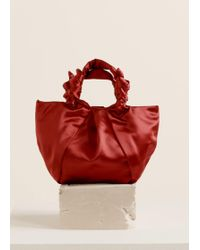 Mango - Knotted Satin Bag - Lyst