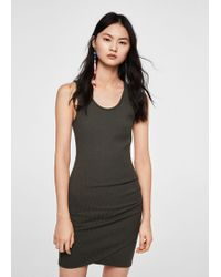Mango - Draped Detail Dress - Lyst