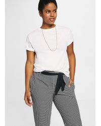 Violeta by Mango - Gingham Check Pattern Trousers - Lyst