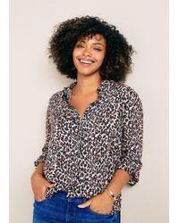 Violeta by Mango - Animal Print Shirt - Lyst