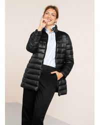 Violeta by Mango - Quilted Long Coat - Lyst