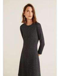 Lyst - Mango Linen Strap Dress in Natural 298add82c