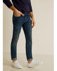 Mango - Slim-fit Vintage Wash Tim Jeans - Lyst