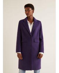 Mango - Lapels Wool Coat - Lyst