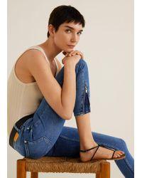 Mango - Crop Skinny Isa Jeans - Lyst