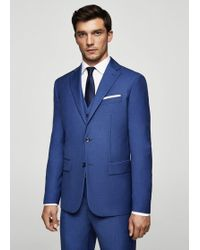 Mango - Slim-fit Patterned Suit Blazer - Lyst