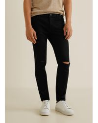 Mango - Skinny Ripped Dylan Jeans - Lyst