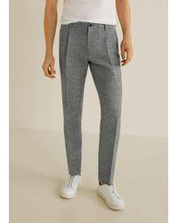 Mango - Regular-fit Linen Trousers - Lyst