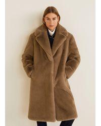 Mango - Oversize Faux-fur Coat - Lyst