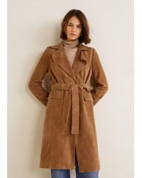 Mango - Leather Trench - Lyst