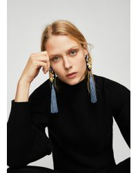 Mango - Fringe Beads Earrings - Lyst