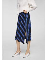 Mango | Striped Asymmetric Skirt | Lyst