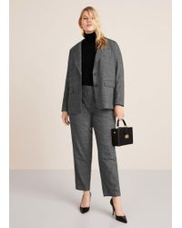 Violeta by Mango - Prince Of Wales Trousers - Lyst
