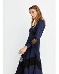 Mango - Lace Panel Dress - Lyst