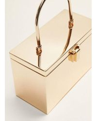 Mango - Metal Coffer Bag - Lyst