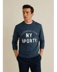 Mango - Message Cotton Sweatshirt - Lyst