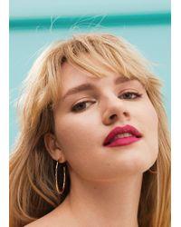 Violeta by Mango - Geometric Metal Earrings - Lyst