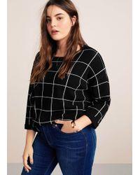 Violeta by Mango - Checks Knitted Sweater - Lyst