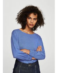 Mango - Ruched Detail Sweater - Lyst