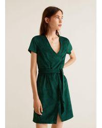 Mango - Bow Wrap Dress - Lyst