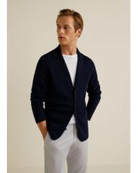 Mango - Pocket Wool-blend Cardigan - Lyst
