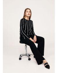 Violeta by Mango - Fine-knit Striped Sweater - Lyst