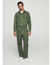 Mango - Cotton Pockets Jumpsuit - Lyst