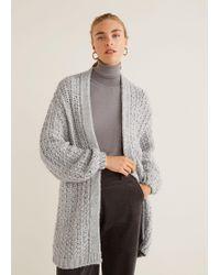 Mango - Chunky Knit Cardigan - Lyst