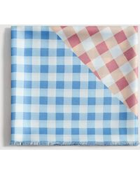 Mango - Gingham Check Printed Scarf - Lyst