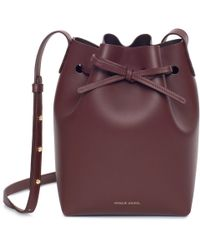 Mansur Gavriel - Calf Mini Bucket Bag - Burgundy - Lyst