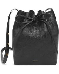 Mansur Gavriel - Tumble Mini Bucket Bag - Black - Lyst
