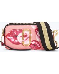 Marc Jacobs - Printed Lips Snapshot Small Camera Bag - Lyst