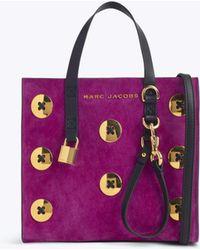 Marc Jacobs - Suede Mini Grind Tote Bag - Lyst