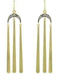 Sylva & Cie - Diamond Tassel Moon Earrings - Lyst