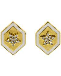 Buddha Mama - Diamond Star Stud Earrings - Lyst