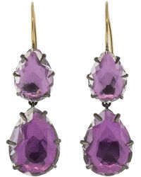 Larkspur & Hawk - Caterina Large Double Drop Earrings - Lyst