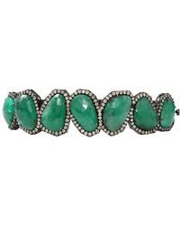Sutra - Sliced Emerald And Diamond Bracelet - Lyst