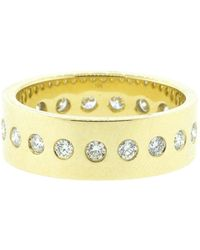 Nancy Newberg - Polished Narrow Diamond Cigar Band Ring - Lyst