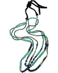 Royal Nomad Jewelry - Two Strand Chrysoprase, Lapis, And Azurite Bead Necklace - Lyst