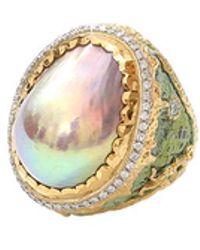 Victor Velyan - Cherry Blossom Freshwater Pearl Ring - Lyst