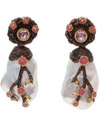 Victor Velyan - Cherry Blossom Freshwater Pearl Earrings - Lyst
