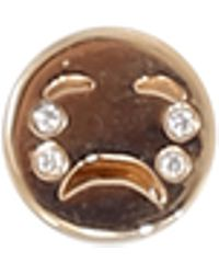 Alison Lou - Diamond Tears Happy Face Stud - Lyst