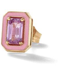Alison Lou - Pink Sapphire Single Stud Earring - Lyst