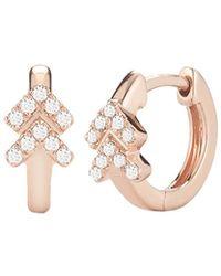 Dana Rebecca - Kathrynn Lynn Diamond Huggie Earrings - Lyst